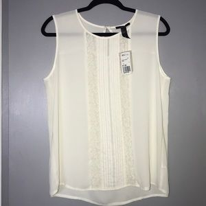 NWT Forever 21 cream off white lace blouse, size L